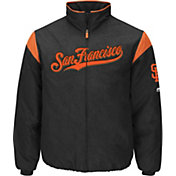 Majestic Men's San Francisco Giants Therma Base Black On-Field Premier Jacket
