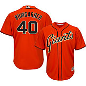 Majestic Men's Replica San Francisco Giants Madison Bumgarner #40 Cool Base Alternate Orange Jersey