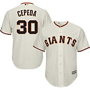 Majestic Men's Replica San Francisco Giants Orlando Cepeda #30 Cool Base Home Ivory Jersey