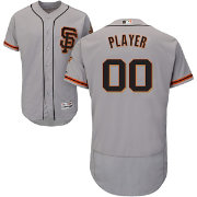 Majestic Men's Full Roster Authentic San Francisco Giants Flex Base Alternate Road Grey On-Field Jersey