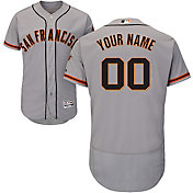 Majestic Men's Custom Authentic San Francisco Giants Flex Base Road Grey On-Field Jersey