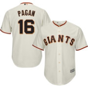 Majestic Men's Replica San Francisco Giants Angel Pagan #16 Cool Base Home Ivory Jersey
