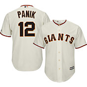 Majestic Men's Replica San Francisco Giants Joe Panik #12 Cool Base Home Ivory Jersey