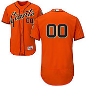Majestic Men's Full Roster Authentic San Francisco Giants Flex Base Alternate Orange On-Field Jersey