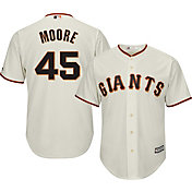 Majestic Men's Replica San Francisco Giants Matt Moore #45 Cool Base Home Ivory Jersey