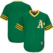 Majestic Men's Replica Oakland Athletics Cool Base Green Cooperstown Jersey