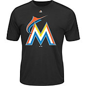 Majestic Men's Miami Marlins Cool Base Black Performance T-Shirt