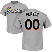 Majestic Men's Full Roster Miami Marlins Grey T-Shirt