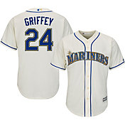 Majestic Men's Replica Seattle Mariners Ken Griffey Jr. #24 Cool Base Home White Jersey