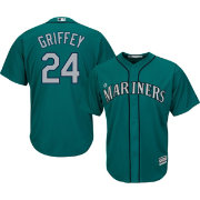 Majestic Men's Replica Seattle Mariners Ken Griffey Jr. #24 Cool Base Alternate Teal Jersey