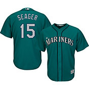 Majestic Men's Replica Seattle Mariners Kyle Seager #15 Cool Base Alternate Teal Jersey