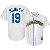 Majestic Men's Replica Seattle Mariners Jay Buhner Cool Base White Cooperstown Jersey