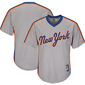 Majestic Men's Replica New York Mets Cool Base Grey Cooperstown Jersey