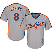 Majestic Men's Replica New York Mets Gary Carter Cool Base Grey Cooperstown Jersey