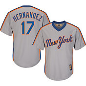 Majestic Men's Replica New York Mets Keith Hernandez Cool Base Grey Cooperstown Jersey