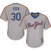 Majestic Men's Replica New York Mets Nolan Ryan Cool Base Grey Cooperstown Jersey