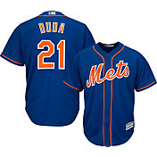 Majestic Men's Replica New York Mets Lucas Duda #21 Cool Base Alternate Home Royal Jersey
