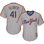 Majestic Men's Replica New York Mets Tom Seaver Cool Base Grey Cooperstown Jersey