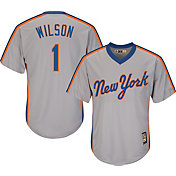 Majestic Men's Replica New York Mets Mookie Wilson Cool Base Grey Cooperstown Jersey