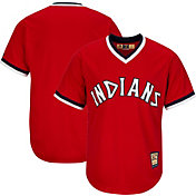 Majestic Men's Replica Cleveland Indians Cool Base Red Cooperstown Jersey