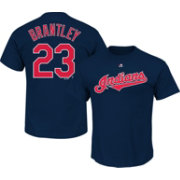 Majestic Triple Peak Men's Cleveland Indians Michael Brantley Navy T-Shirt