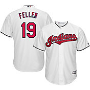 Majestic Men's Replica Cleveland Indians Bob Feller #19 Cool Base Home White Jersey