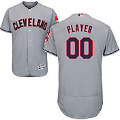 Majestic Men's Full Roster Authentic Cleveland Indians Flex Base Road Grey On-Field Jersey