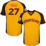 Majestic Men's 2016 American League Mike Trout Gold Home Run Derby Cool Base Jersey