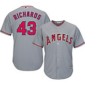 Majestic Men's Replica Los Angeles Angels Garrett Richards #43 Cool Base Road Grey Jersey