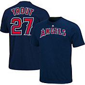 Majestic Triple Peak Men's Los Angeles Angels Mike Trout Navy T-Shirt