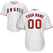 Majestic Men's Custom Cool Base Replica Los Angeles Angels Home White Jersey