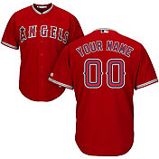 Majestic Men's Custom Cool Base Replica Los Angeles Angels Alternate Red Jersey