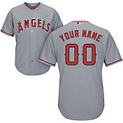 Majestic Men's Custom Cool Base Replica Los Angeles Angels Road Grey Jersey