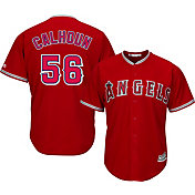 Majestic Men's Replica Los Angeles Angels Kole Calhoun #56 Cool Base Alternate Red Jersey