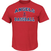 Majestic Men's Los Angeles Angels Heart & Soul Red T-Shirt