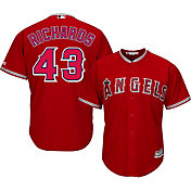 Majestic Men's Replica Los Angeles Angels Garrett Richards #43 Cool Base Alternate Red Jersey