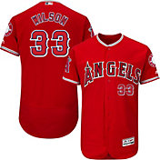 Majestic Men's Authentic Los Angeles Angels C.J. Wilson #33 Alternate Red Flex Base On-Field Jersey