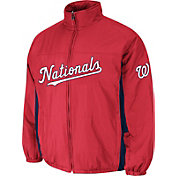 Majestic Men's Washington Nationals Double Climate On-Field Red Jacket