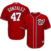 Majestic Men's Replica Washington Nationals Gio Gonzalez #47 Cool Base Alternate Red Jersey