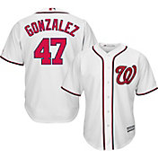Majestic Men's Replica Washington Nationals Gio Gonzalez #47 Cool Base Home White Jersey