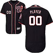 Majestic Men's Full Roster Authentic Washington Nationals Flex Base Alternate Navy On-Field Jersey