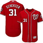 Majestic Men's Authentic Washington Nationals Max Scherzer #31 Alternate Navy Flex Base On-Field Jersey