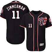 Majestic Men's Authentic Washington Nationals Ryan Zimmerman #11 Alternate Navy Flex Base On-Field Jersey