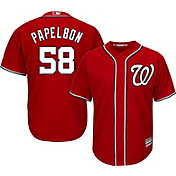 Majestic Men's Replica Washington Nationals Jonathan Papelbon #58 Cool Base Alternate Red Jersey