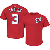 Majestic Men's Washington Nationals Michael Taylor #3 Red T-Shirt