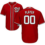 Majestic Men's Custom Cool Base Replica Washington Nationals Alternate Red Jersey