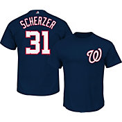 Majestic Triple Peak Men's Washington Nationals Max Scherzer Navy T-Shirt