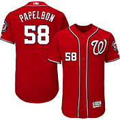Majestic Men's Authentic Washington Nationals Jonathan Papelbon #58 Alternate Red Flex Base On-Field Jersey