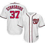 Majestic Men's Replica Washington Nationals Stephen Strasburg #37 Cool Base Home White Jersey