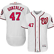 Majestic Men's Authentic Washington Nationals Gio Gonzalez #47 Home White Flex Base On-Field Jersey
